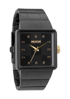NIXON | QUATRO | MATTE BLACK GOLD | $175.00