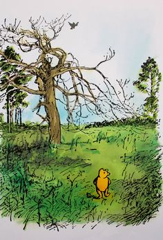 Winnie the Pooh  AA Milne and Ernest H Shepard  by DomesticatedMe, $7.00