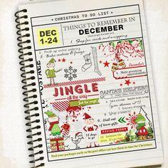 Christmas To Do List #scrapbook #designerdigitals