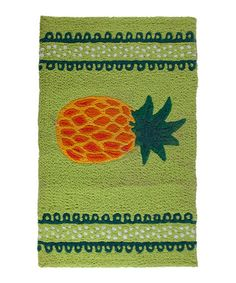 Loving this Pineapple Mat on #zulily! #zulilyfinds