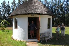 """Addo, South Africa: The rondavel huts are perfect for couples. could be flat back and rounded front for outside """"wall"""" African Hut, African Tree, Mud Hut, Rammed Earth Homes, Roots And Wings, My Ideal Home, Vernacular Architecture, Best Build, Castle House"""