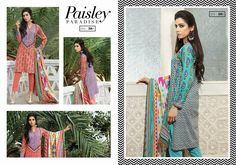 Satrangi Lawn - Eid Collection 2015 Design Code & Name: Paisley Paradise DN38A & 38B  Description: Shirt Front: 2m (Lawn) Shirt Back: 1.5m (Lawn) Dupatta: 2.5m (Lawn) Shalwar: 2.5m (Dyed) For Price & Order  WhatsApp +92 331 2319665  Like our Facebook Page www.facebook.com/A.YDesiBoutique