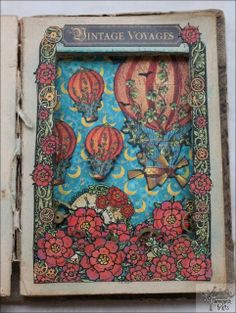 Meresanth Krafts: Książka - shadowbox z balonami / Balloon shadowbox book