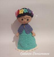 Crochet decoracion frida Ideas for 2019 Crochet Amigurumi Free Patterns, Crochet Dolls, Crochet Hats, Amigurumi Tutorial, Knitting Projects, Crochet Projects, Homemade Dolls, Crochet Videos, Cute Crochet