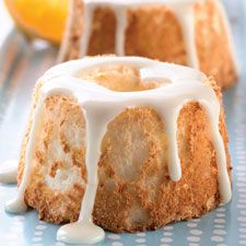 Mini Orange Angel Food Cakes - These cakes make beautiful presentation desserts. We like them served with whipped cream and fresh strawberries.
