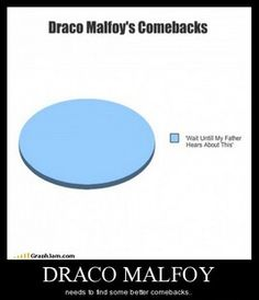 Draco Malfoy needs better a comeback. (Harry potter)