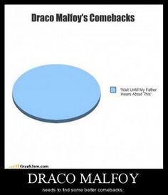 Draco Malfoy needs better a comeback. (Harry potter)