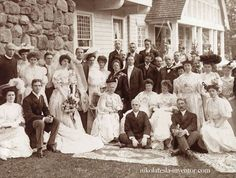 Wedding of Mr. Hobson 1905. His (Nikola Tesla) navy friend Mr. Hobson was one of the rare person who managed to get Nikola out of the lab for a little bit of entertainment.