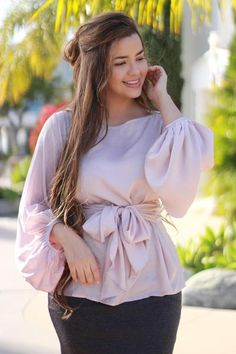 Our Isla tops are absolutely stunning! Iranian Women Fashion, Muslim Fashion, Modest Fashion, Hijab Fashion, Fashion Outfits, Apostolic Fashion, Sleeves Designs For Dresses, Look Plus Size, Insta Look