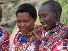 Maasai Women wearing traditional beaded jewelry #Kenya #Travel  Travel with ECOLIFE to Kenya www.ecolifeconservation.org