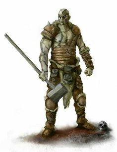 Male Goliath Barbarian - Pathfinder PFRPG DND D&D d20 fantasy