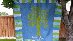 Denim picnic blanket with tree For Hannah & Ben 6/16