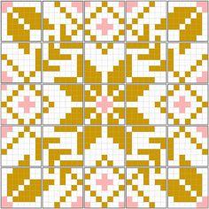 Fair Isle quilt mosaic by JenniferLGB, via Flickr