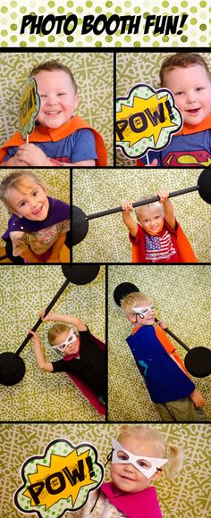 Super hero birthday party photo booth ideas | My Mommy Style