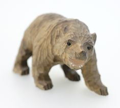 ANTIQUE WOODEN HAND CARVED SCANDINAVIAN BROWN BEAR-VERY RARE-FREE POSTAGE WORLDWIDE