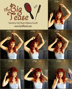 Bettie Page's Teased Baby Bangs | 27 Gorgeously Dreamy Vintage-Inspired Hair Tutorials