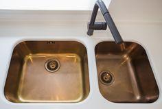 Custom made copper sink in Bucharest