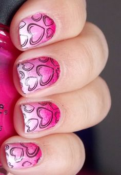 89 Most Fabulous Valentine's Day Nail Art Designs - What do you think of giving your hands a romantic look on Valentine's Day? The easiest way to get catchy hands and make them more gorgeous is to chang... -  valentines day nails (84) ~♥~ ...SEE More :└▶ └▶ http://www.pouted.com/89-most-fabulous-valentines-day-nail-art-designs/