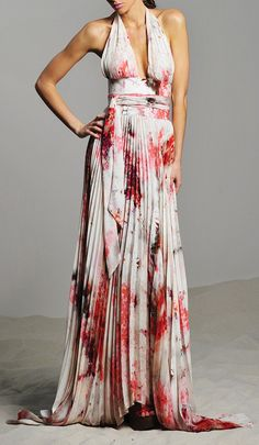 pleated maxi dress / alexis
