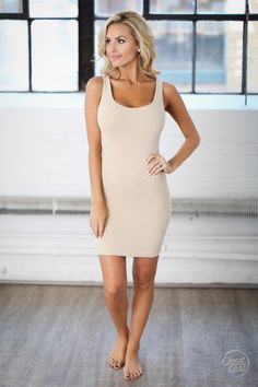 Long Seamless Tank Dress - Thick Straps - Closet Candy Boutique Bare feet add the finishing touch to this beautiful outfit. Elegant Dresses, Sexy Dresses, Casual Dresses, Dresses For Work, Summer Dresses, Formal Dresses, Wedding Dresses, Backless Dresses, Bride Dresses