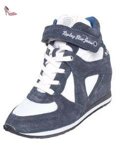 Replay Gwp70.002.C0002L, Baskets mode femme - Multicolore (Navy White 195), 39 EU - Chaussures replay (*Partner-Link)