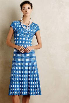 Try to find on resale site: Gingham Garden Dress - anthropologie.com