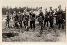 Suwalki, Poland, 1939, Rybachuk, Mykola with members of Polish Infantry Regiment.