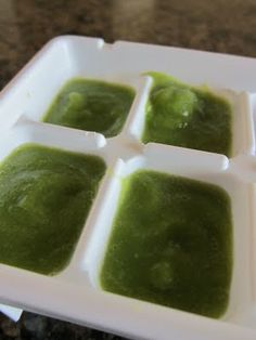 DIY Baby food!  Did this with several foods at a time in different trays.  Froze them. Put the cubes in a freezer ziplock- labeled each food & then used a cube as a portion.  Worked really well!