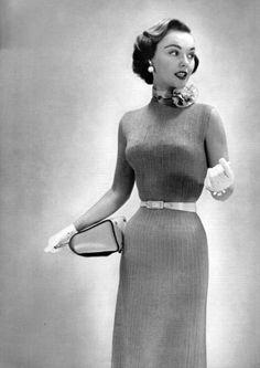 Fashion from the Bernat Handicrafter, 1954.