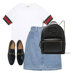 """""""Untitled #13482"""" by alexsrogers ❤ liked on Polyvore featuring Gucci and Topshop"""