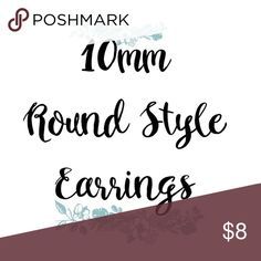🔘10mm Handmade Earrings!🔘 Hello! Welcome to my Gallery of Gems!😁 I'm working on some Guides to Post Throughout my Closet that will Hopefully make your Shopping Experience a little easier! I have almost 2,000 Active Listings😭, so I know it can be overwhelming to go thru! ⚫️Available Frames For 10mm Round Are Silver, Gold & Bronze⚫️ANY 10mm Stone can be placed in any of these Backs! You can make a Special Order, just message & Ask! Thank you!😘 gallery_of_gems Jewelry Earrings