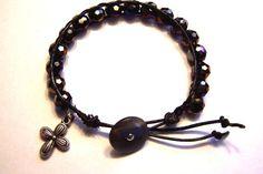 Leather  wrap bracelet Christian bracelet by HeavenlyTreasuresLG