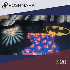 Super Hero bundle All tees size Xl , boxers a med to large. Other