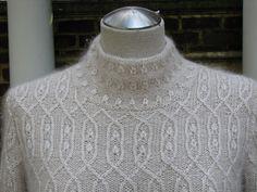 STUNNING white on white traveling stitches jumper. Knitting Charts, Lace Knitting, Knitting Stitches, Knit Crochet, Knit Patterns, Stitch Patterns, How To Purl Knit, Yarn Crafts, Knitting Projects