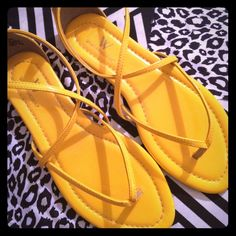 Worthington sandals Yellow strap sandals by worthington. never worn. Worthington Shoes Sandals