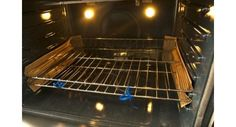 How to Clean Oven Racks Naturally  ::: he appliance repairman told me using the self-cleaning feature takes years off the life of an oven. The best oven cleaner! Cover bottom of oven with baking soda, then pour vinegar so it's all wet. Let sit around 20 minutes or so then wipe all of it out with damp cloth or sponge. I leave my oven door open too. After drying you may see some white residue, wipe again.