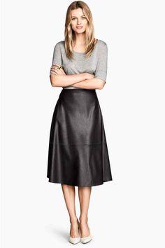 Falda en piel sintética | H&M