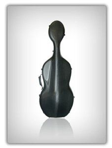 """Musilia S3 Solid Black Cello Case (Strad Model) by Musilia. $2184.00. The new technologies and carbon forming processes allow Musilia to produce a line of carbon fiber cases that will protect valuable instruments from damage in even the most stressful situations. Voted Top 10 Products for 2010 by Strings Magazine, these Musilia cello cases have been designed for ease of use and have guaranteed durability: """"Musilia's new carbon-fiber cello cases were designed by a professional cel..."""