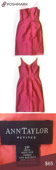 Selling this Ann Taylor Shantung Silk Sheath Dress size 2P on Poshmark! My username is: shawnaa24. #shopmycloset #poshmark #fashion #shopping #style #forsale #Ann Taylor #Dresses & Skirts