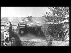 Capabilities of two French Char 2C Super Heavy tanks being demonstrated HD Stock Footage - YouTube