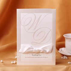 Wedding Invitations - $68.99 - Classic Style Top Fold Invitation Cards With Bows (set of 50) (114039002) http://jjshouse.com/Classic-Style-Top-Fold-Invitation-Cards-With-Bows-Set-Of-50-114039002-g39002