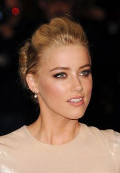 Amber Heard Bobby Pinned updo