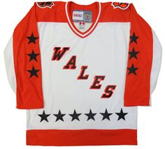 772977f9d Wales Conference CCM Vintage 1983 White Replica NHL Hockey Jersey CoolHockey