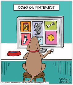 Now you know what your dog does all day when you're not home... | Read Half Full #comics @ http://www.gocomics.com/half-full/2015/07/01?utm_source=pinterest&utm_medium=socialmarketing&utm_campaign=social | #GoComics #webcomic #dogs #Pinterest