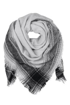 Woven from a lightweight wool loop it around your neck for a casual look or wrap it around your shoulders as a shawl. The weave is tight enough to keep you warm in winter but loose enough to enjoy it in the spring and fall.  Dimensions : 130 cm x 130 cm  Opal Wool Scarf by Becksondergaard. Accessories - Scarves & Wraps Toronto Canada