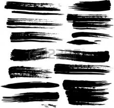 Black Paint Brush Stroke Set Of Grunge Brush Strokes Royalty Free Cliparts Vectors And