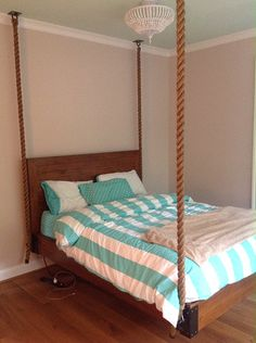 Hanging Rope Bed for Girls Bedroom