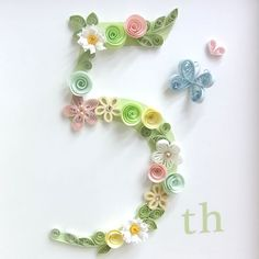 Flower Number(フラワーナンバー) - 《NK craft》ペーパークイリング作家が作るウェルカムボード、サンクスボード、ペーパーアイテム