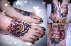 #neo #traditional #new #school #tattoo #crystal #diamond #heart #sailor #moon #girly #sweet