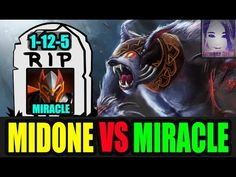 Total DOMINATION - Midone vs Miracle Mid Lane [Dota 2] Patch 7.06e
